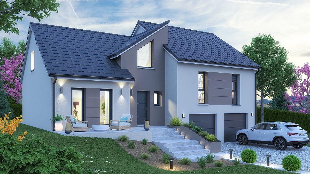 Maison + terrain en Moselle - Piblange