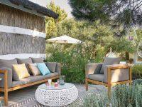 salon de jardin en décoration de jardin