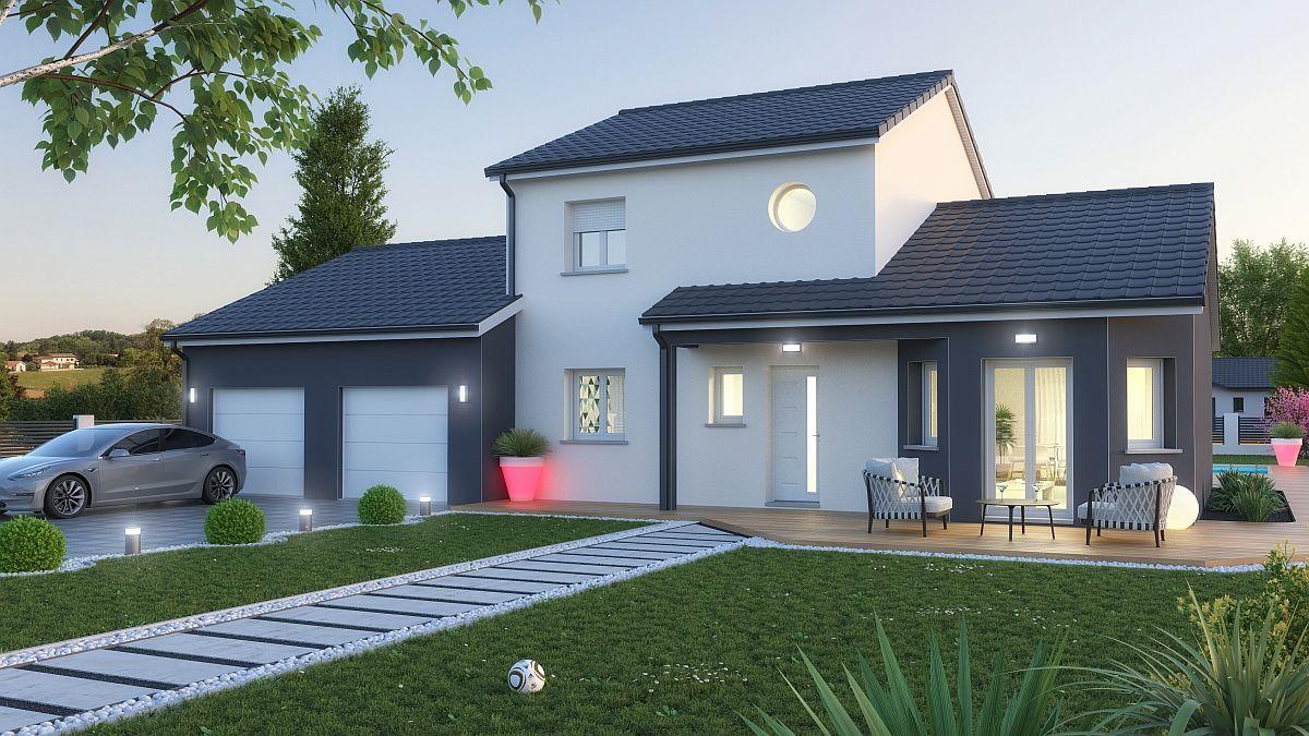Maison et terrain à Chaudeney sur Moselle à construire